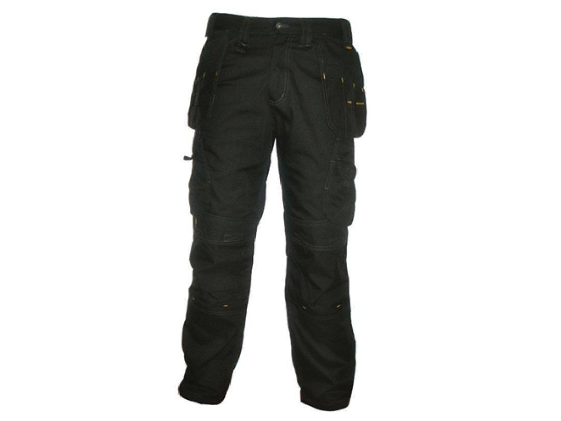 DeWalt Men's Polycotton Pro Tradesman Work Trouser - Black, 30W x 29L 1
