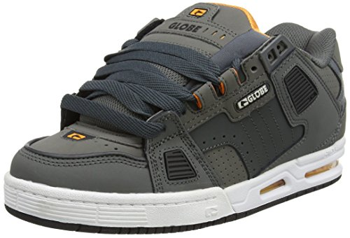 Globe Herren Sabre Skateboardschuhe Schwarz (Shadow/pewter/orange)