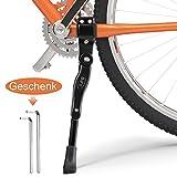 Universaler Fahrradständer Bify,Hergestellt Aluminiumlegierung,Rutschfeste Gummifüße,Höhenverstellbarer,Geeignet für Mountainbikes, Fahrradrennen, E-Bikes, Kinderfahrräder und Falträder +2 Inbusschlüssel (Black)
