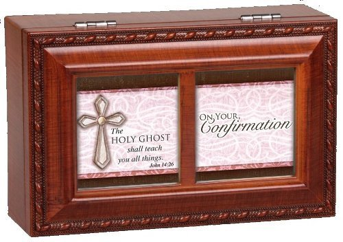 Cottage Garden Confirmation Girl Petite Music Box Retired - Religious Music Confirmation Communion PM5499S-CG by Cottage Garden