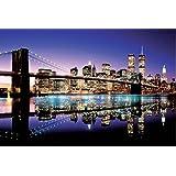 1art1 New York - Mattina Ha Rotto sopra Il Ponte di Brooklyn Poster Stampa (91 x 61cm)