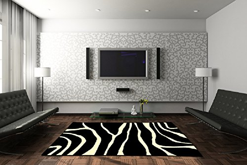 Velours Design Teppich Zebra like, Größe:160x230