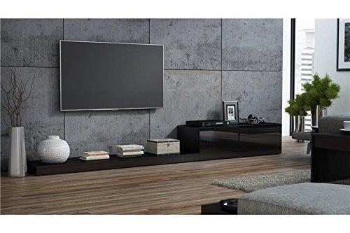 Ensemble meuble TV design LIME II - Noir