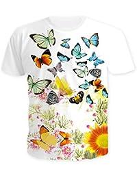 ded85abb1a8ef5 YICHUN Homme Femme Tops T-Shirt de Loisir Tee-Shirt Plage Tunique Tees  Chemisier