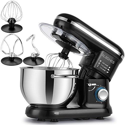 Albohes Impastatrice Planetaria, Impastatrice elettrica Robot da cucina, miscelatore per pasticceria professionale...