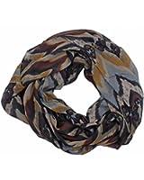 FenikaLoop Stripes - Loopschal Damen Herbst Winter Schlauchschal mit bunten Streifen 170 cm (85 doppelseitig) x 80 cm