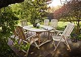 SAM 7tlg. Gartengruppe Aruba, Gartenmöbel aus Teak-Holz, 1 x Auszieh-Tisch ca. 180-240 x 100 cm + 6 x Hochlehner