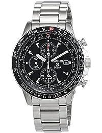 Seiko SSC009P1 - Reloj cronógrafo de cuarzo para hombre con correa de acero inoxidable, color plateado, cal V172 1.5 alarm