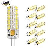 Lampade led g4 mais silicone lampadina G4 Risparmio energetico G4 AC/DC 12V 7W 550 Lumen Lampadina LED G4 7W Risparmio Energetico Lampada equivalente a 60W Lampada Alogena Bianco Freddo 5500K 10 pezzi Set (7W)
