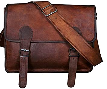 COOL STUFF Large Leather Satchel Leather School bag Shoulder Bag ...