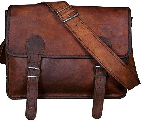 Cool Stuff große Leder-Umhängetasche 45,7x 33x 15,2cm, Reisetasche, Laptop, Braun, braun (Braun) - CS81