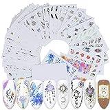 40 Hojas/Juego de uñas Flor Animal de la Historieta Etiqueta Colgante, Collar de envolturas de uñas de manicura de la Etiqueta de la decoración DIY Etiqueta Regard