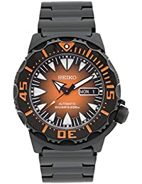 Seiko Superior #SRP311J1 - 2nd Generation Monster, IP Black Stainless Steel Case and Bracelet Sunburst Orange Dial. (Made In Japan)