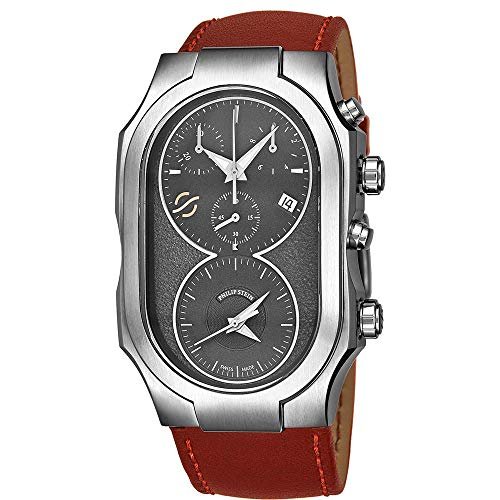 Philip Stein Men's Signature Red Leather Band Swiss Quartz Watch 300SDGCRSTCH