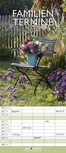 Gärten 2019 - Gartenkalender, Familienplaner Garten, Spaltenkalender, Naturkalender 2019  -  19,5 x 45 cm