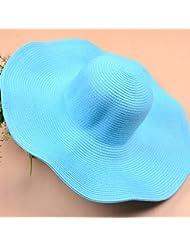 Escapadas de verano sombrero de paja Playa Cap La playa grande a lo largo de la tapa La versi¨®n coreana de ocio Parasol