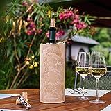 STEIN:WERK Weinkühler Flaschenkühler Dolomit Kalkstein Stein Kühlmanschette | Kühler für Weinflaschen - 6