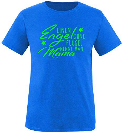 EZYshirt® Ein Engel ohne Flügel nennt man Mama Herren Rundhals T-Shirt Royal/Neongrün