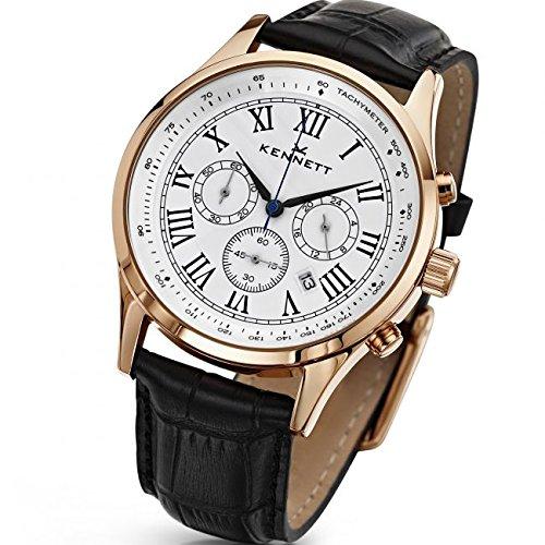 Mens Kennett Savro Chronograph Watch WSAVWHBKRGLBK