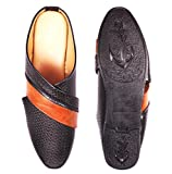 Slip On Synthetic Leather Jalsa Juti Punjabi Men's Party Casual Wear Jutti by WooRes