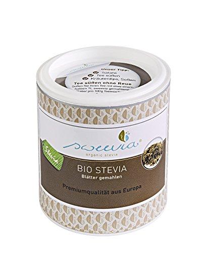 Bio Stevia Blätter gemahlen - hochfeines Pulver zum Süßen (100 g) Das Original von sweevia® - Stevia Blatt Pulver