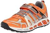 Geox J SHUTTLE BOY A, Jungen Sneakers, Orange (ORANGE/GREYC0437), 35 EU