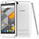 CUBOT Manito Smartphone Sans Contrat (5,0 Pouces écran HD IPS, 4G LTE FDD, WCDMA 3G, 2G GSM Android 6.0 Téléphone MTK6737 1.3GHz Quad Core, 1280x720 Pixels, 13 Méga Pixel Appareil Photo avec 16 Go ROM, 3Go RAM Double Cartes SIM Double Veille) - Blanc