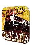 Wanduhr Welt Reise Marke Kanada Wand Deko Uhr 25x25 cm
