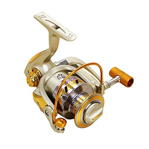 5000 Metálicas Basculantes Pesca Carretes Spinning Con 10 Rodamientos De 5.5: 1 Relación De Engranajes