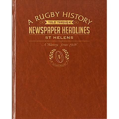 Personalised St Helens Rugby giornale, Copertina in