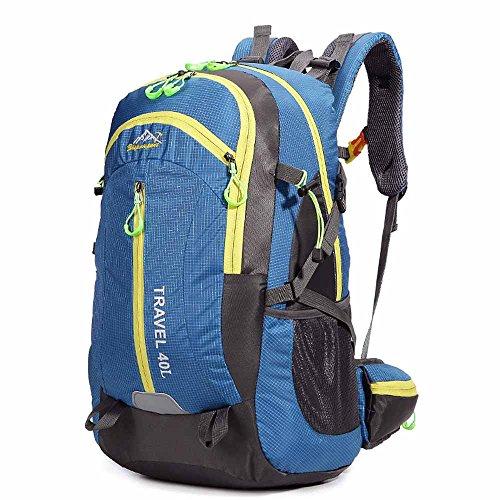 AllureFeng Outdoor-Sportarten wasserdichte Rucksack 40L Männer und Frauen Tasche Wanderrucksack Blue