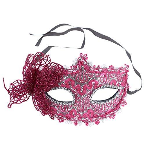 TOOGOO (R) Frauen Reizvolle Maske venezianische Maskerade Party Kugel Karneval Gesichtsmaske, Augenmaske (Rose - Venezianische Augenmaske