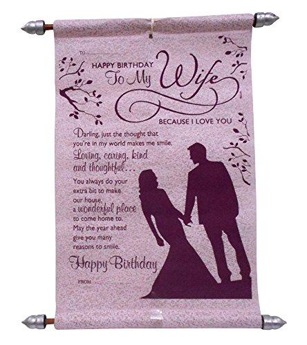 Natali Wife's Birthday Scroll Card