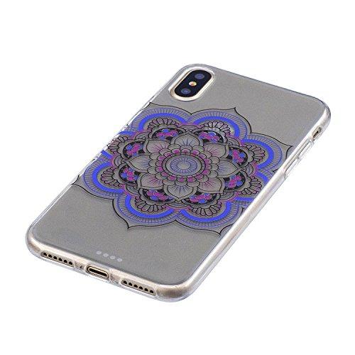 Custodia per iPhoneX(5,8pouces) ,JIENI Ragazza sexy Trasparente TPU Stent misto Cover Coperchio Flessibile Sottile Protettivo Morbido Silicone Custodia Skin Bumper Case per iPhoneX(5,8pouces) FD61