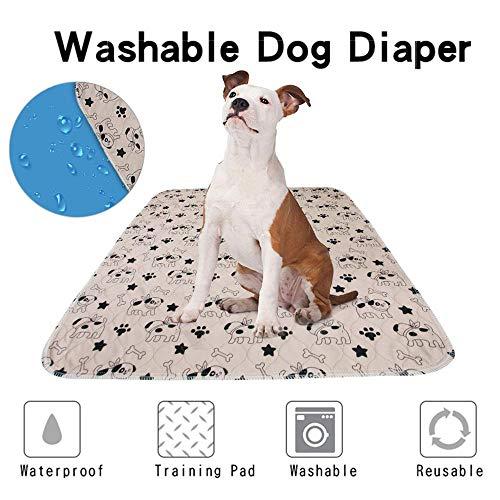 Lesgos Waschbar Pee Pads für Hunde, Wiederverwendbare große Hund Welpen Trainingsunterlagen, wasserdichte Wurfunterlage mit Extra Absorbent und leckagesicher für Katzen/Hund/Zuhause/Reisen/Betten -
