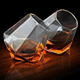 Diamant-Gläser 350ml–Packung mit 2Stück, Whiskey-Gläser, abgewinkelt, Scotch-Gläser