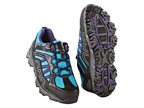 Crivit Damen Trekkingschuhe Wanderschuhe Trekking Schuhe Atmungsaktiv Wasserdicht (37, Türkis-Schwarz)