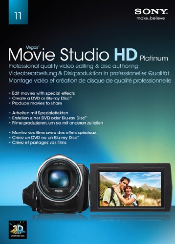 Sony Movie Studio 11 HD Platinum (Platinum 11 Vegas Sony)
