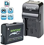 Baxxtar Razer 600 II Ladegerät 5in1 mit Patona PREMIUM (1100mAh) - Ersatz für Akku Nikon EN-EL14a EN-EL14 - USB-Ausgang für Smartphones usw.