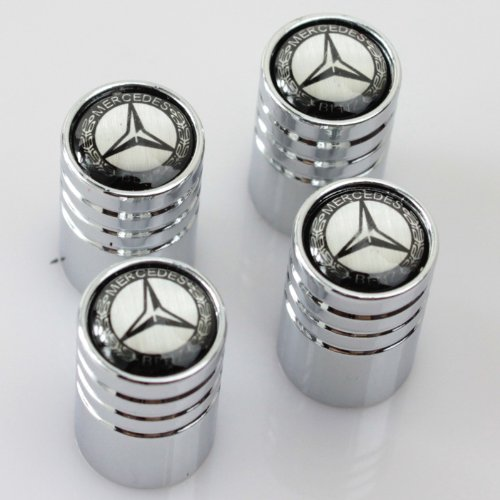 mercedes-benz-chrome-wheel-tyre-valve-dust-caps-logo-4-bouchons-metal-pour-valve-avec-boite-cadeau