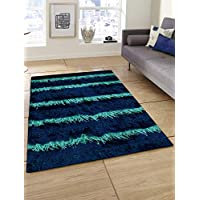 Story at Home Polyester Carpet Accent Collection Anti Skid, Dark Blue, 91cm X 152cm, Ac1408