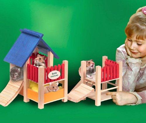 """Artikelbild: Karlie Groáer Spielplatz mit H""""ngebrcke, Nagerspielplatz"""