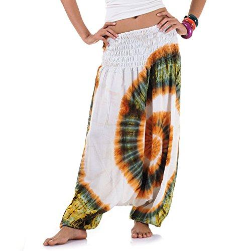 Batik Hippie Hose Haremshose Aladinhose Pumphose für Damen -