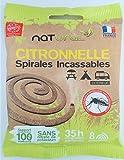 """NATURAL -Spirales Anti-Moustiques 100% fibres végétales naturelles, Incassable, Parfumées à la citronnelle - Innovation et Fabrication 100% Française - PRODUIT """"ÉLU DE L'ANNÉE"""" sur un panel de 10 000 personnes - Utilisation extérieure-..."""