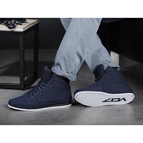 Baskets montantes GT CANVAS NAVY par VO7 Bleu