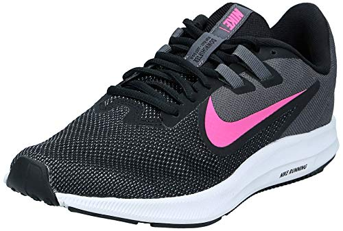 Nike Wmns Downshifter 9, Zapatillas de Atletismo para Mujer, Multicolor Black/Laser Fuchsia/Dark Grey/White...