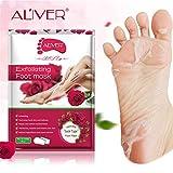 happy event Hot Dead Skin Fuß Maske Peeling Nagelhaut Ferse Füße Pflege Anti Aging (Rose)