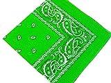 Unbekannt Bandana Kopftuch Halstuch Nickituch Biker Tuch Motorad Tuch verschied. Farben (Lime Grün)
