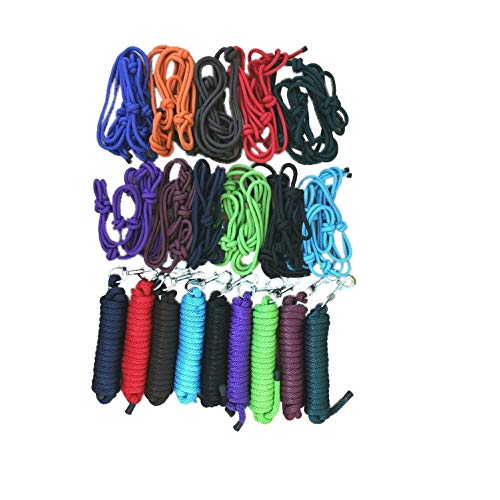 NETPROSHOP Western Knotenhalfter oder Führstricke Einzeln oder Kombiniert, Farbe:Orange, Groesse:Halfter