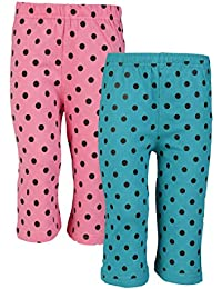 SINIMINI Girls Printed Cute Capri (Pack of 2)